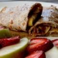 Crêpe à la cannelle + pommes et pamplemousse