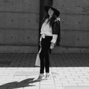 Look - Noir, blanc & Saint Laurent